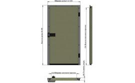 Дверь одностворчатая АТМ РДО-700.1700 / 80С для холодильной камеры (распашная)
