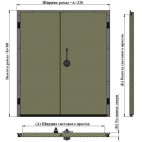 Дверь двустворчатая АТМ РДД-2400.2000 / 80Н для холодильной камеры (распашная)
