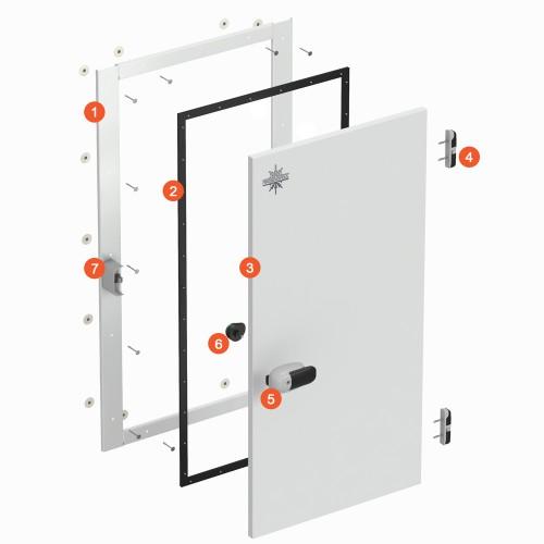 Распашные двери одностворчатые (РДОП и РДО) 800х2100х100 Фурнитура Fermod (Франция), MTH (Италия)