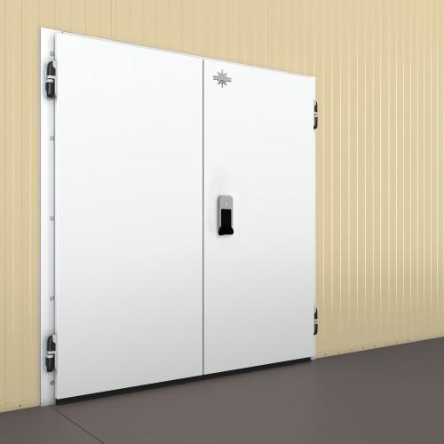 Распашные двери двустворчатые (РДД) 2200х2200х120 Фурнитура MTH (Италия), Fermod (Франция)