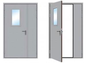 Распашные двухстворчатые противопожарные двери